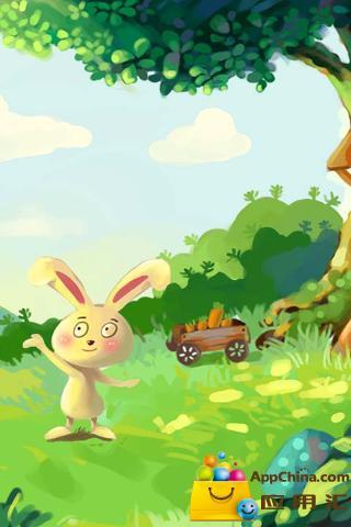 讲述了一只可爱的小白兔去大自然中寻找春夏秋冬